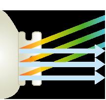 (イラスト) InVu miniの光反射技術